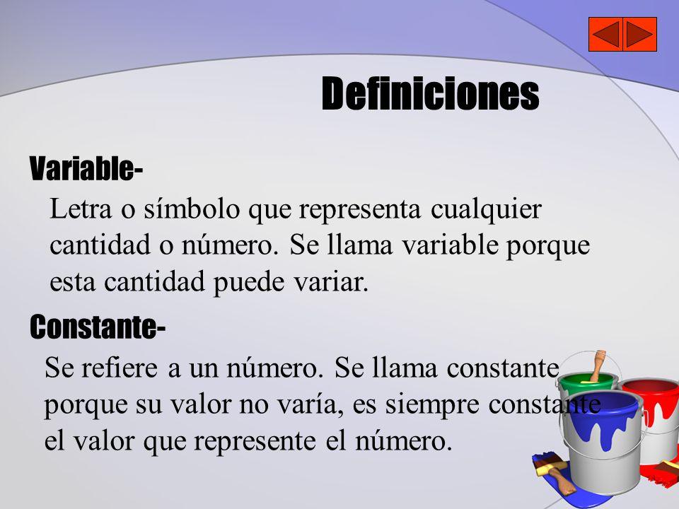 Definiciones Variable-