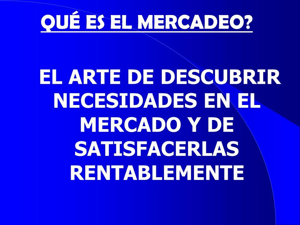 NECESIDADES EN EL MERCADO Y DE SATISFACERLAS RENTABLEMENTE