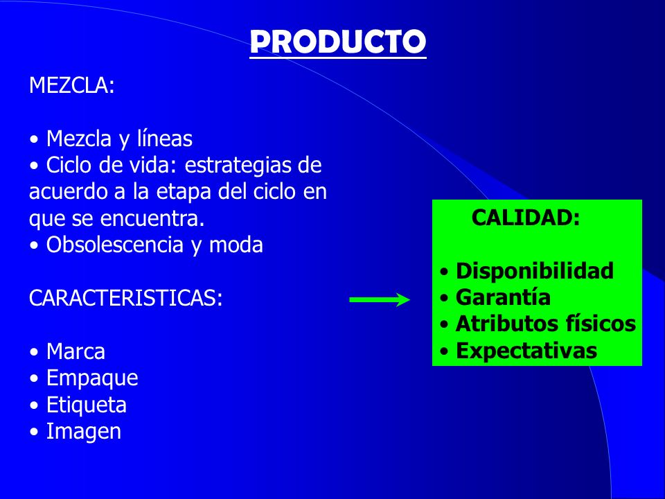 PRODUCTO MEZCLA: Mezcla y líneas