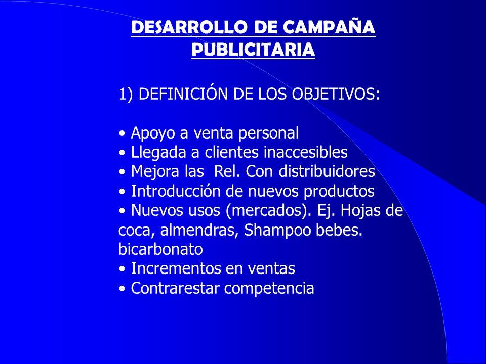 DESARROLLO DE CAMPAÑA PUBLICITARIA