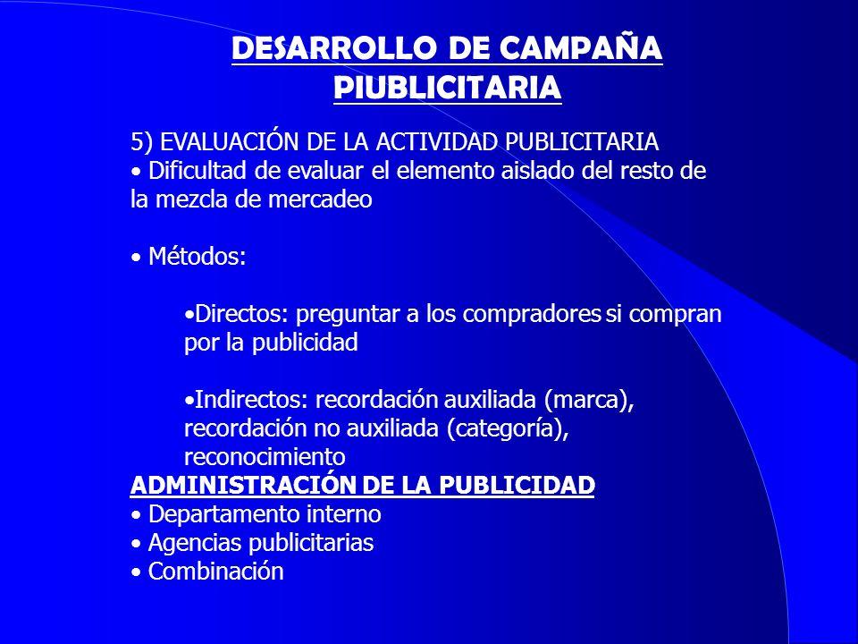 DESARROLLO DE CAMPAÑA PIUBLICITARIA
