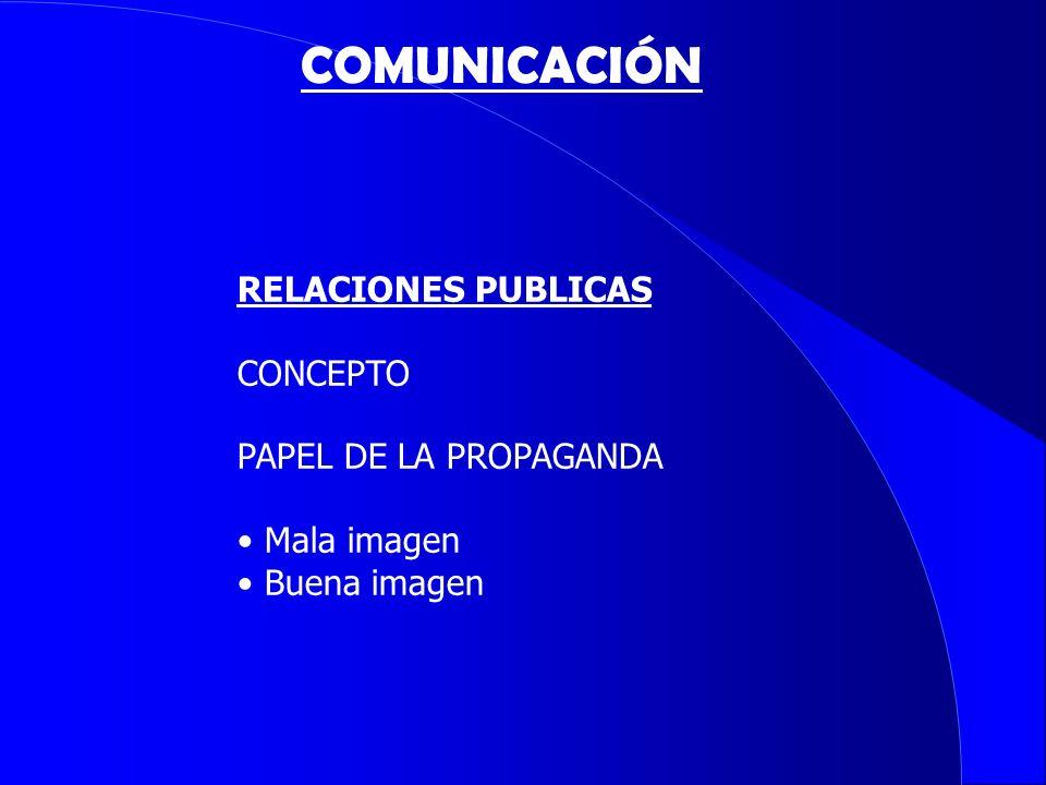 COMUNICACIÓN RELACIONES PUBLICAS CONCEPTO PAPEL DE LA PROPAGANDA