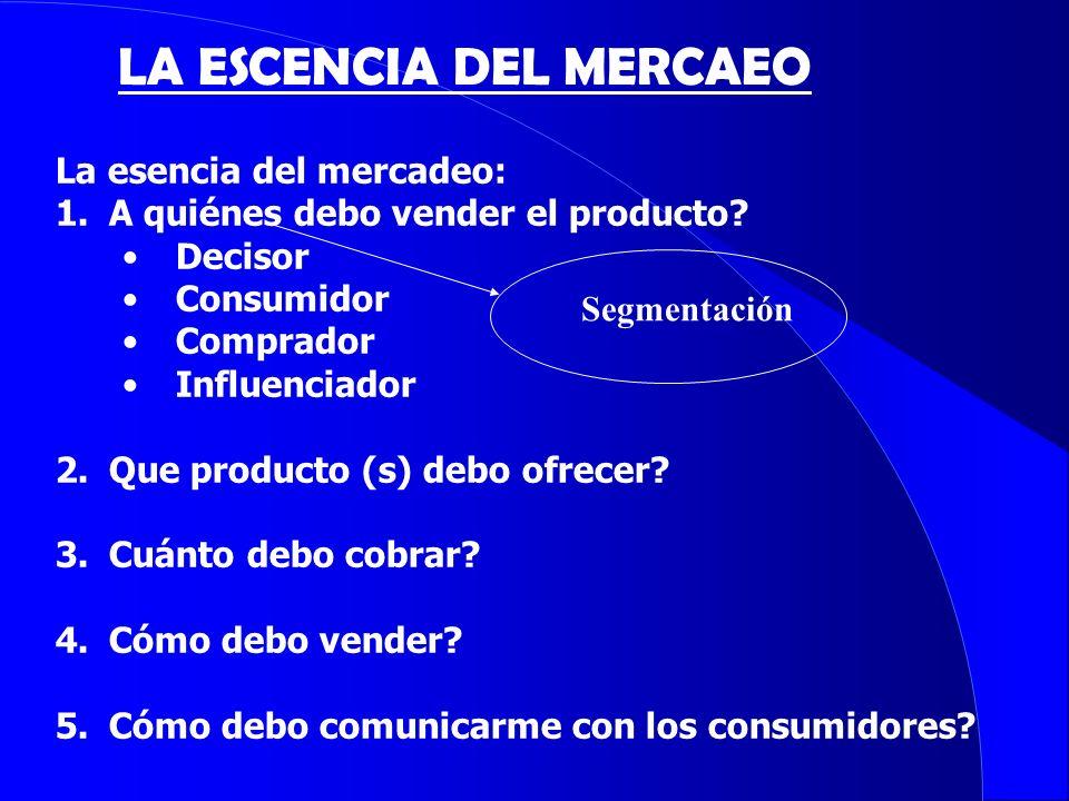 LA ESCENCIA DEL MERCAEO