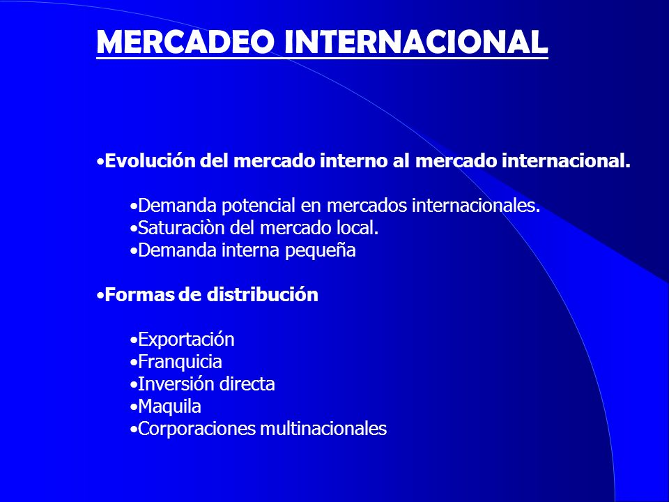 MERCADEO INTERNACIONAL