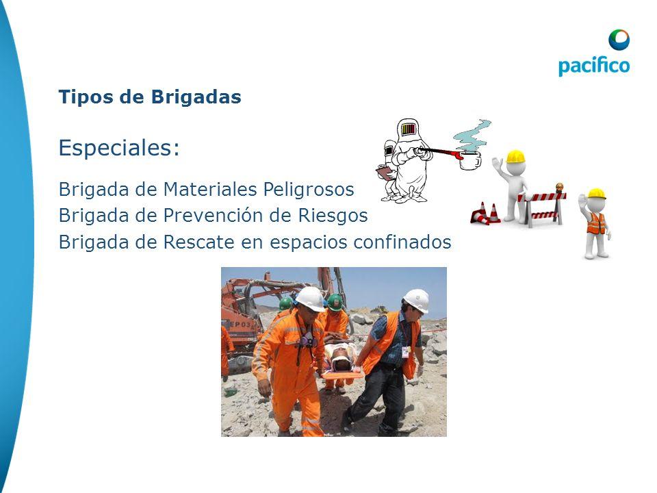 Especiales: Tipos de Brigadas Brigada de Materiales Peligrosos
