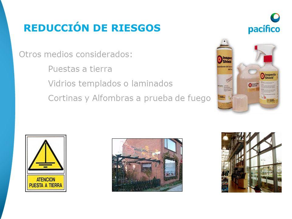 Reducción de riesgo REDUCCIÓN DE RIESGOS Otros medios considerados: