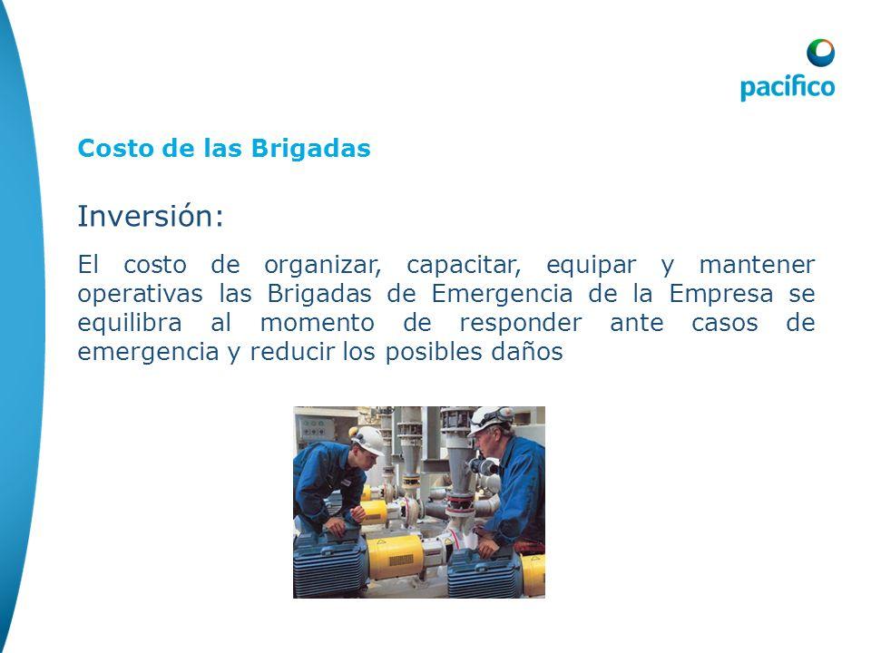 Inversión: Costo de las Brigadas