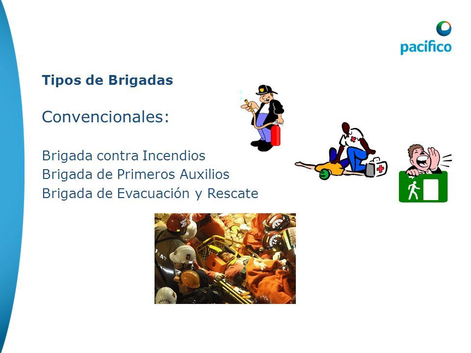 Convencionales: Tipos de Brigadas Brigada contra Incendios