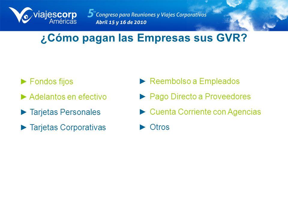 ¿Cómo pagan las Empresas sus GVR