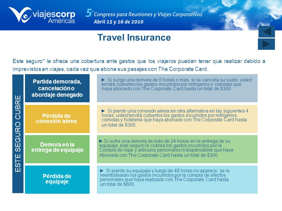 Travel Insurance ESTE SEGURO CUBRE