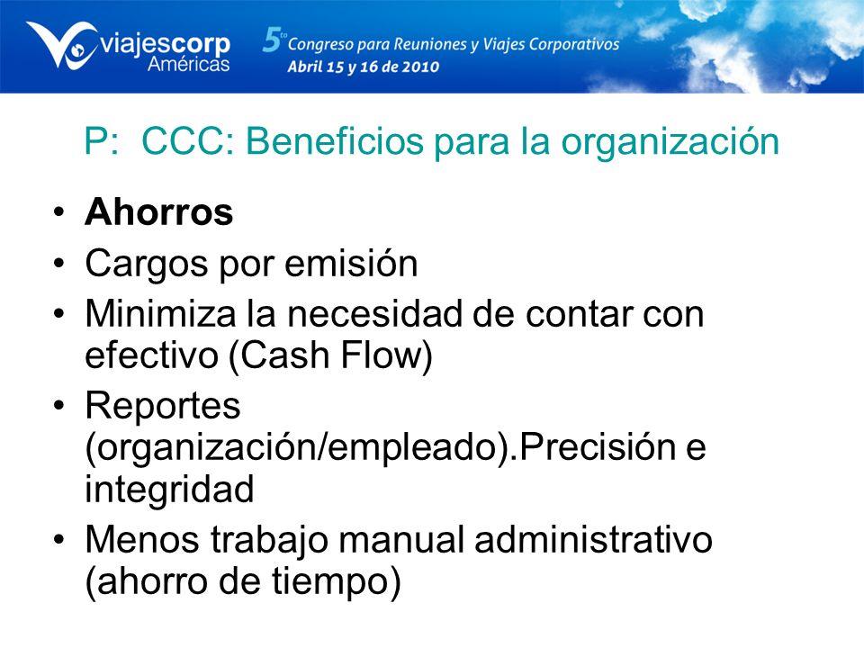 P: CCC: Beneficios para la organización