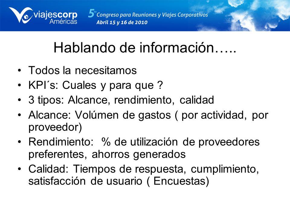 Hablando de información…..