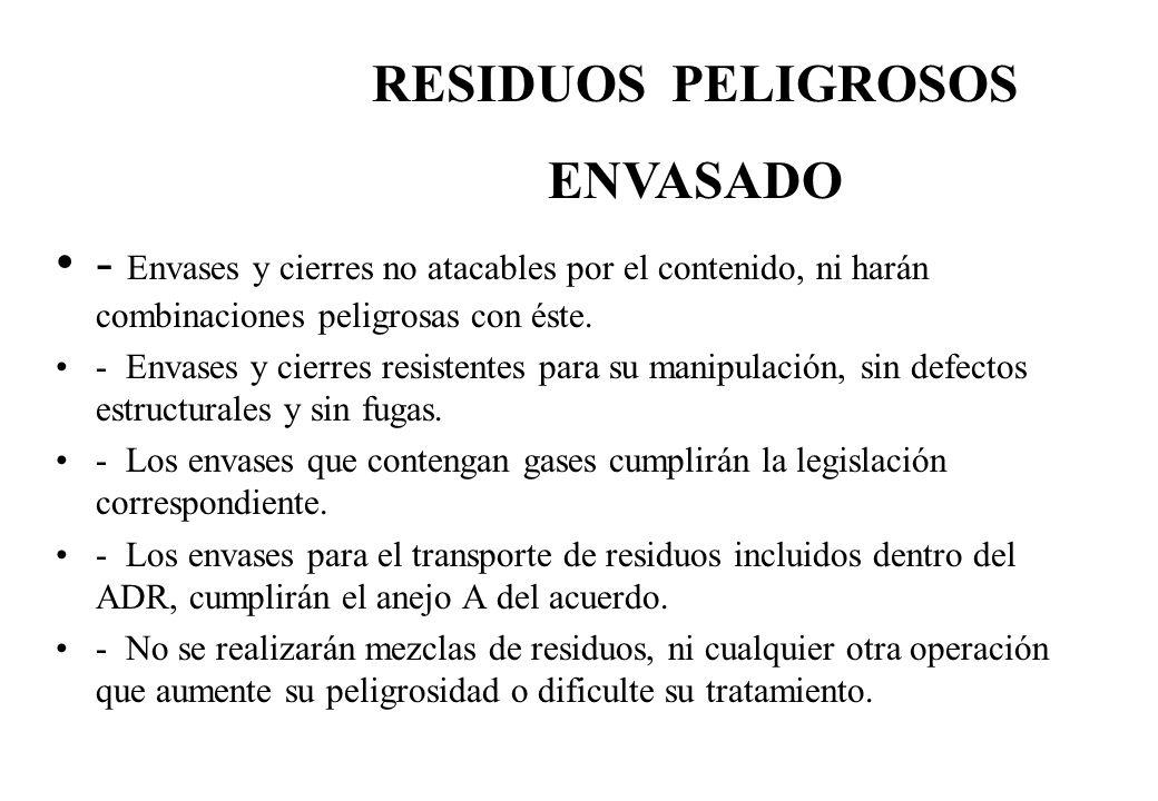 RESIDUOS PELIGROSOS ENVASADO