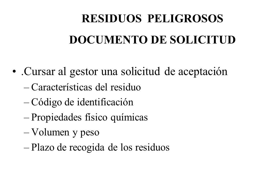 DOCUMENTO DE SOLICITUD