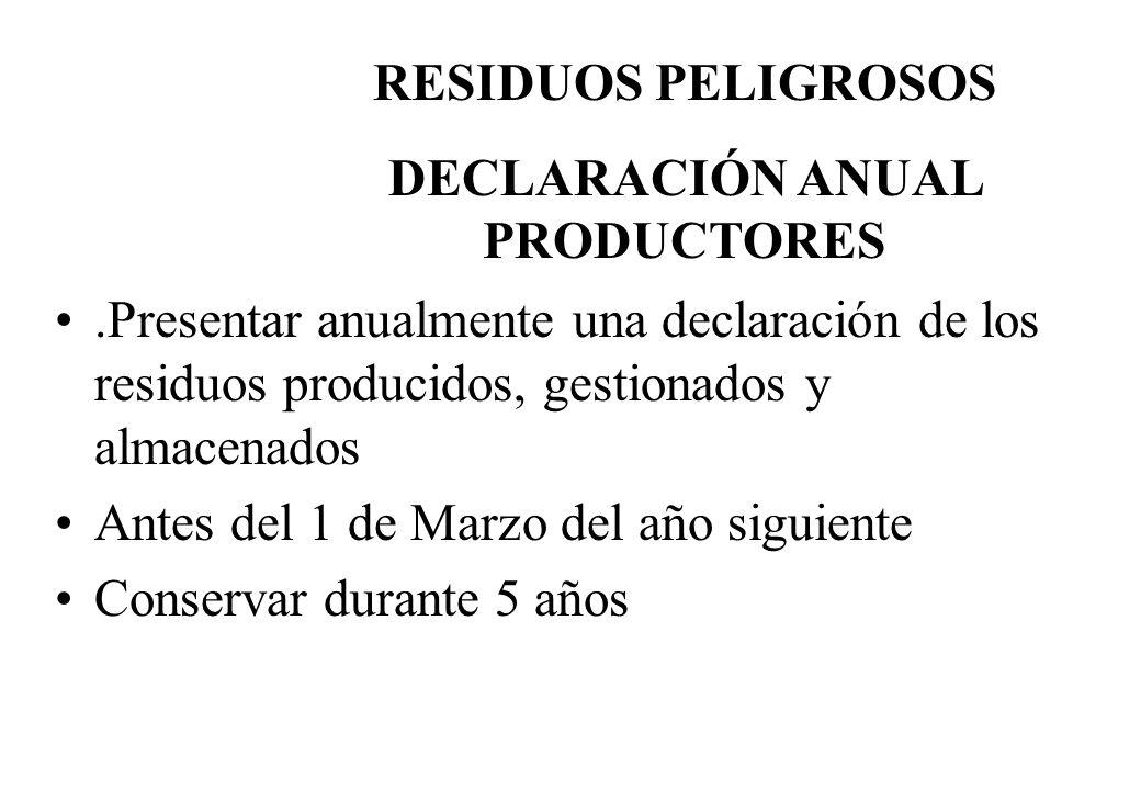 DECLARACIÓN ANUAL PRODUCTORES