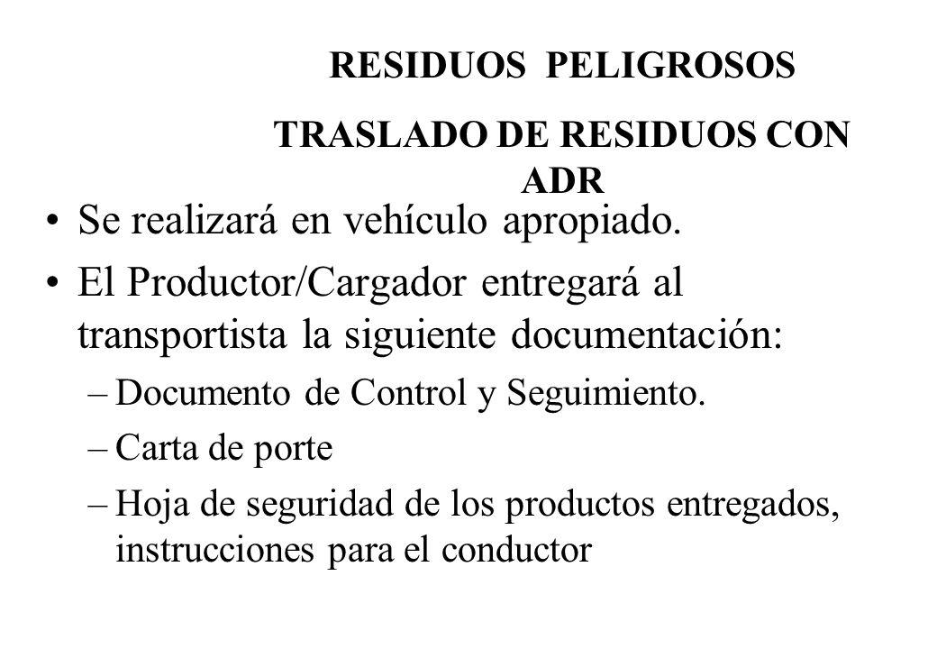 TRASLADO DE RESIDUOS CON ADR