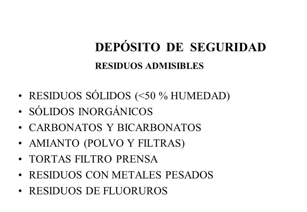 DEPÓSITO DE SEGURIDAD RESIDUOS SÓLIDOS (<50 % HUMEDAD)