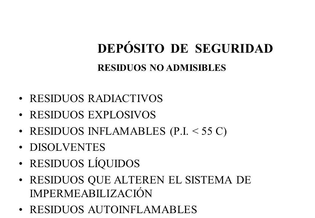 DEPÓSITO DE SEGURIDAD RESIDUOS RADIACTIVOS RESIDUOS EXPLOSIVOS