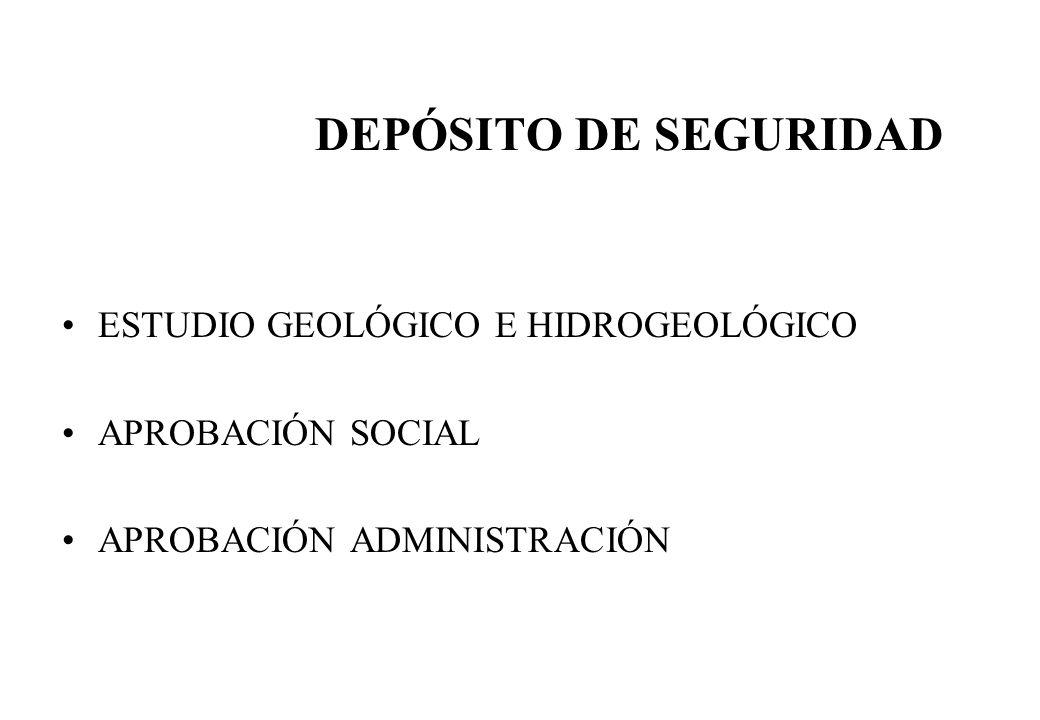 DEPÓSITO DE SEGURIDAD ESTUDIO GEOLÓGICO E HIDROGEOLÓGICO