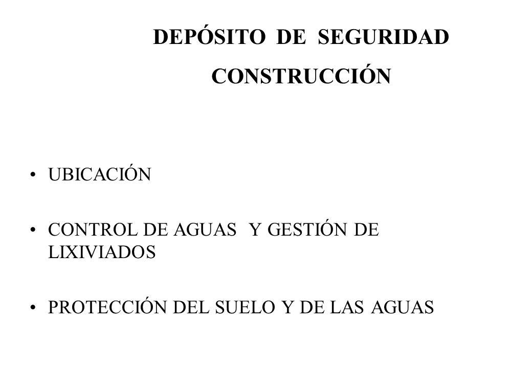 DEPÓSITO DE SEGURIDAD CONSTRUCCIÓN