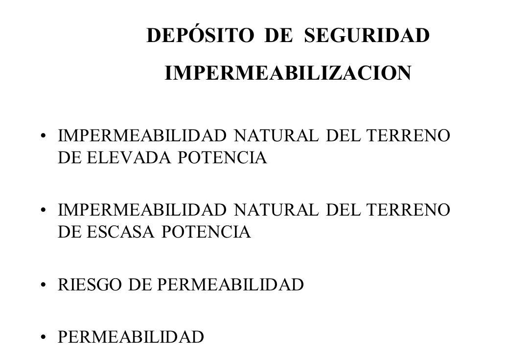 DEPÓSITO DE SEGURIDAD IMPERMEABILIZACION