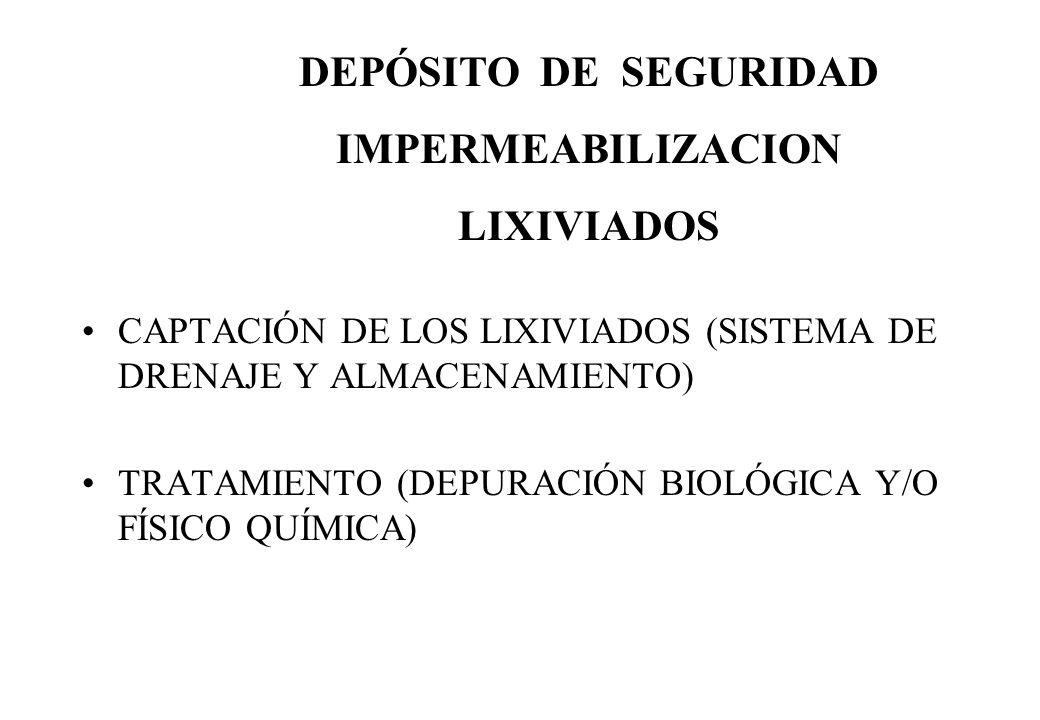 DEPÓSITO DE SEGURIDAD IMPERMEABILIZACION LIXIVIADOS