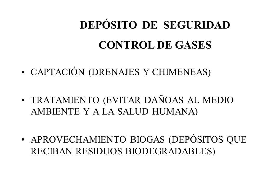 DEPÓSITO DE SEGURIDAD CONTROL DE GASES