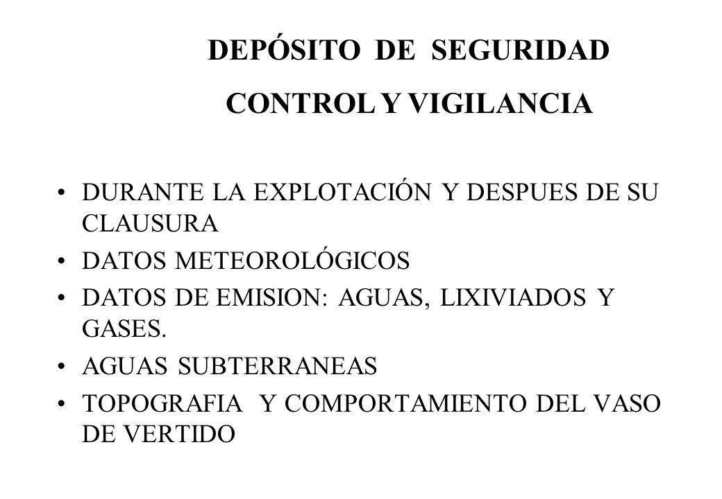 DEPÓSITO DE SEGURIDAD CONTROL Y VIGILANCIA