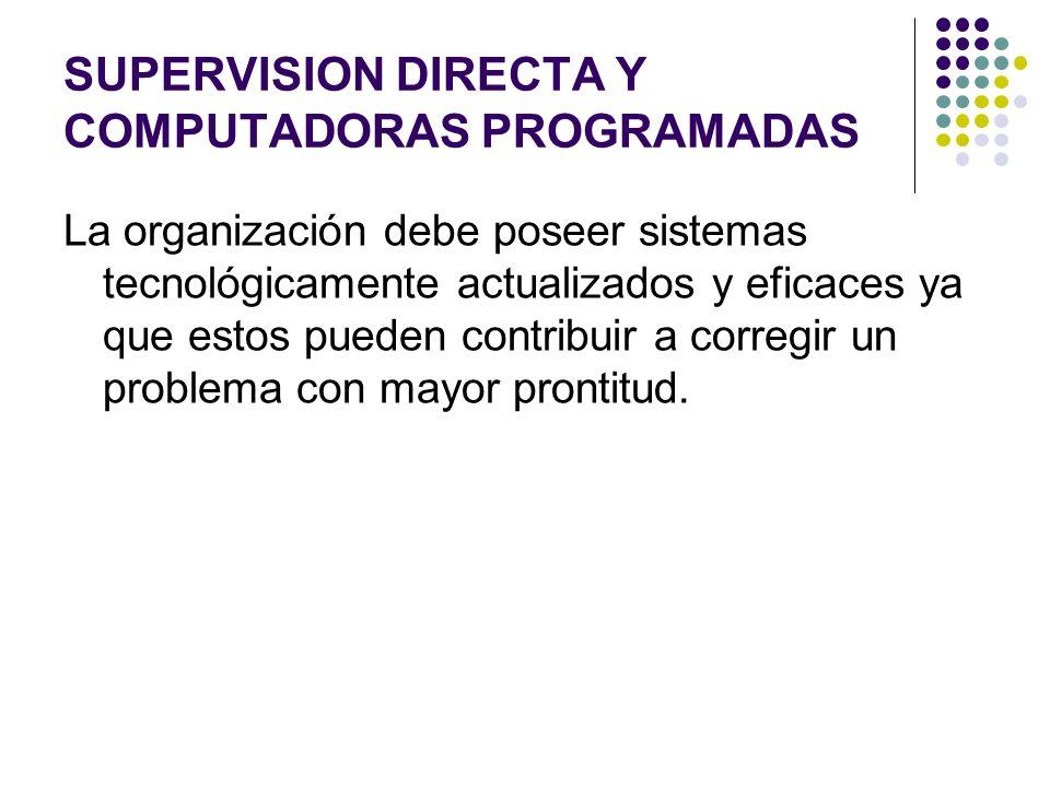 SUPERVISION DIRECTA Y COMPUTADORAS PROGRAMADAS