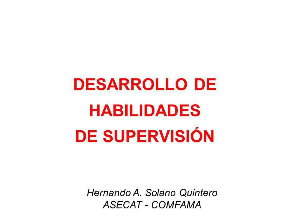 DESARROLLO DE HABILIDADES DE SUPERVISIÓN