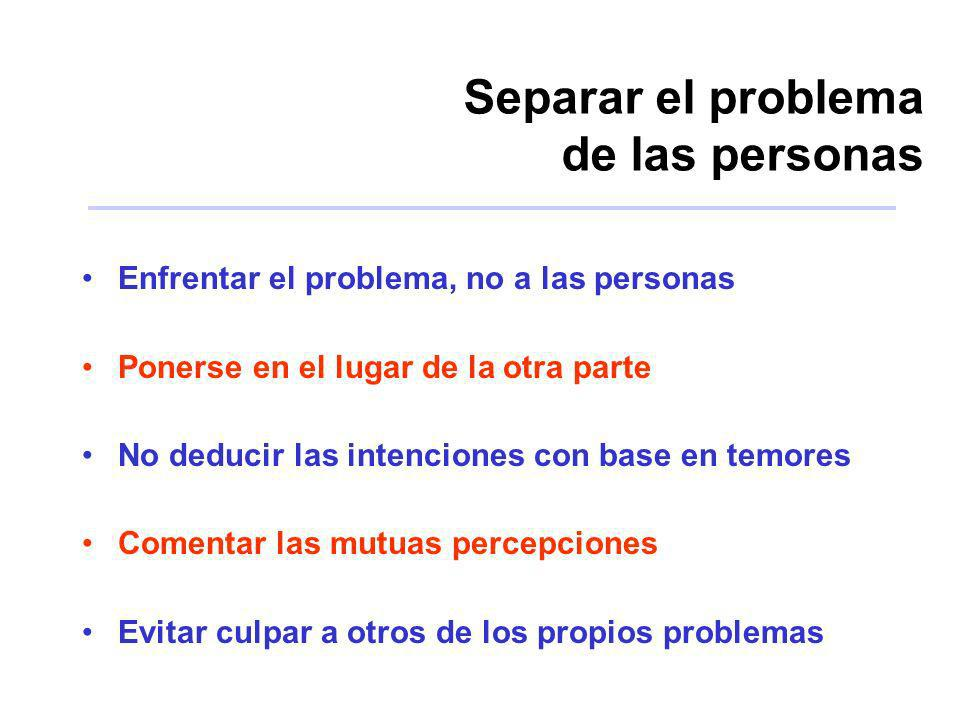 Separar el problema de las personas