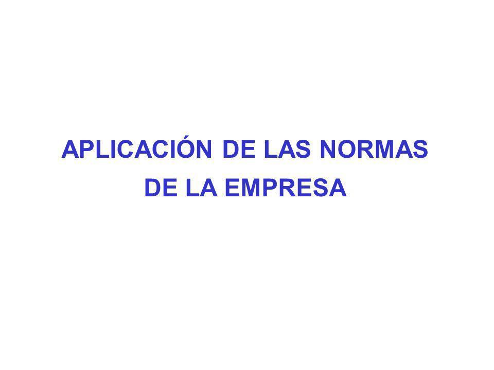 APLICACIÓN DE LAS NORMAS