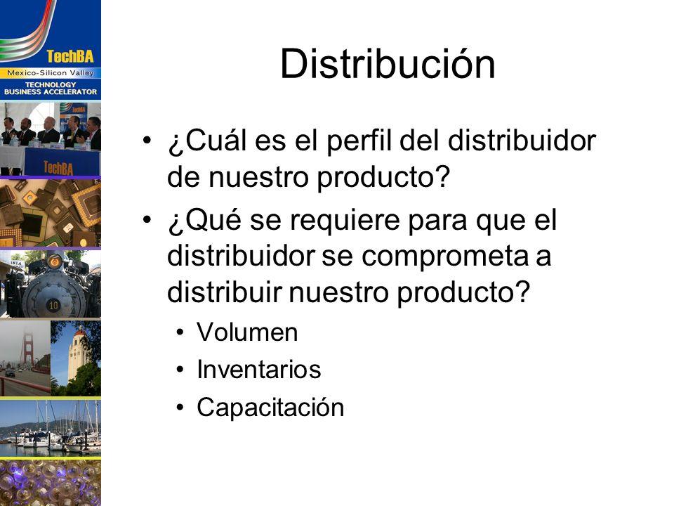 Distribución ¿Cuál es el perfil del distribuidor de nuestro producto