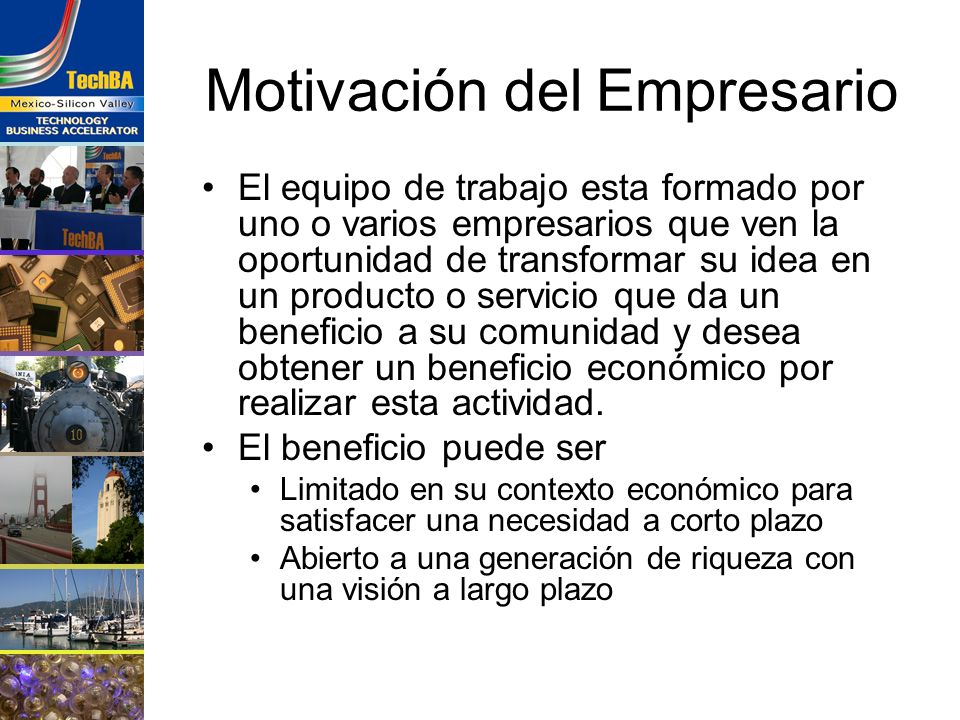 Motivación del Empresario