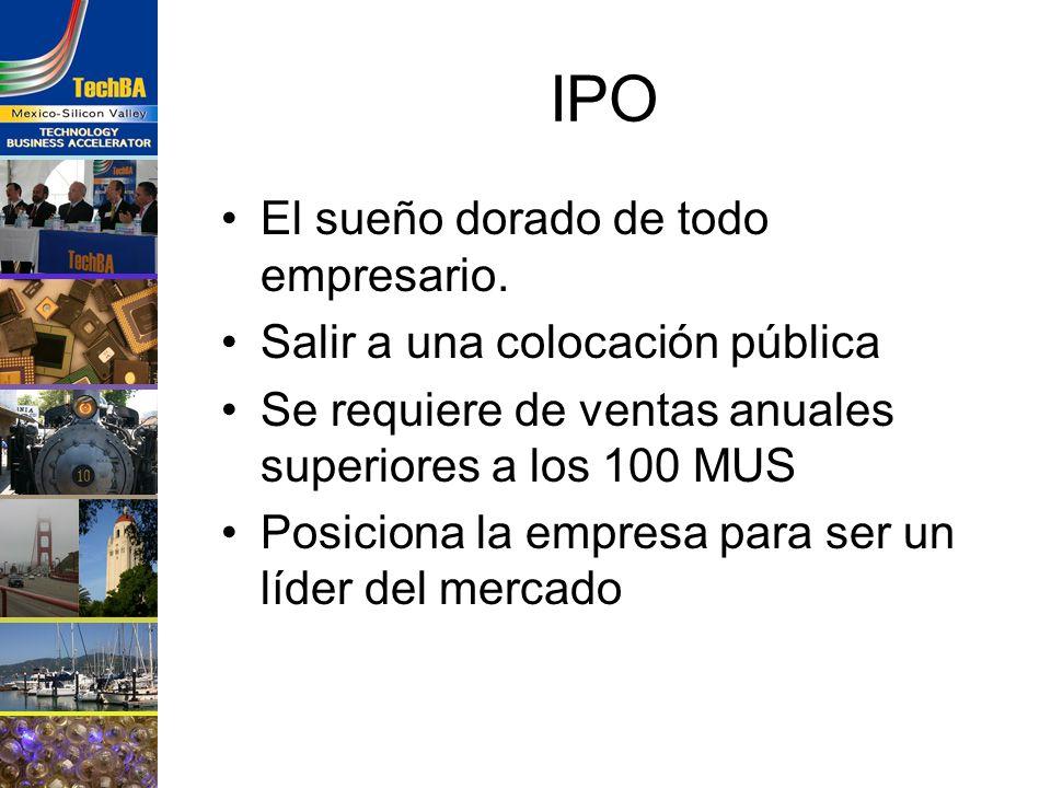 IPO El sueño dorado de todo empresario. Salir a una colocación pública