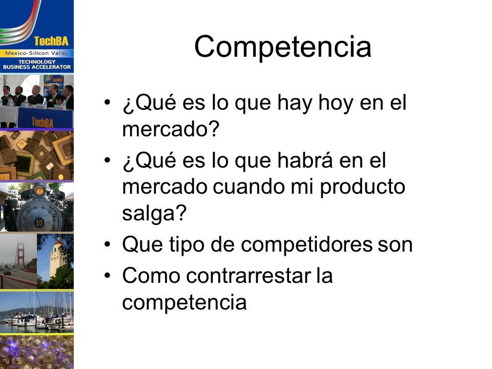 Competencia ¿Qué es lo que hay hoy en el mercado