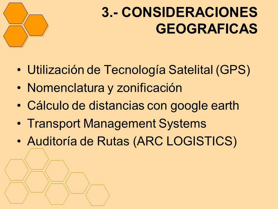 3.- CONSIDERACIONES GEOGRAFICAS