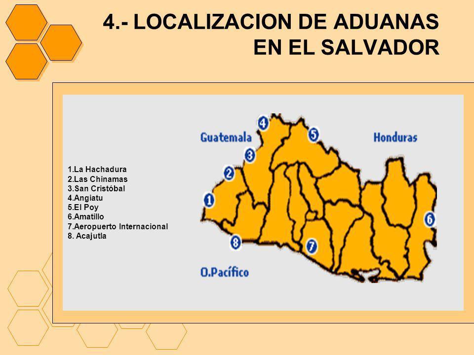 4.- LOCALIZACION DE ADUANAS EN EL SALVADOR