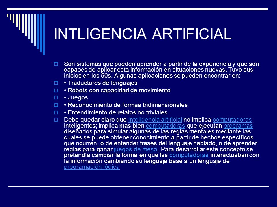 INTLIGENCIA ARTIFICIAL