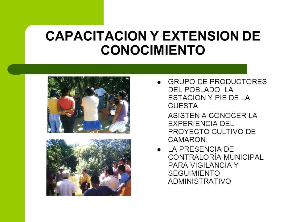 CAPACITACION Y EXTENSION DE CONOCIMIENTO