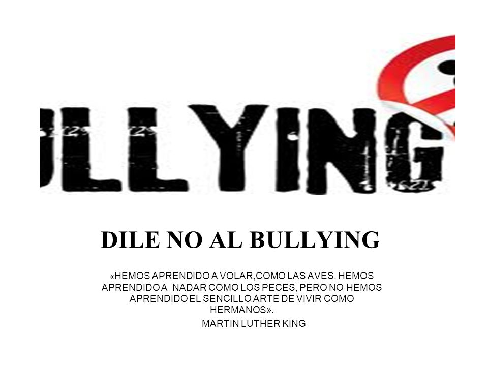 DILE NO AL BULLYING MARTIN LUTHER KING