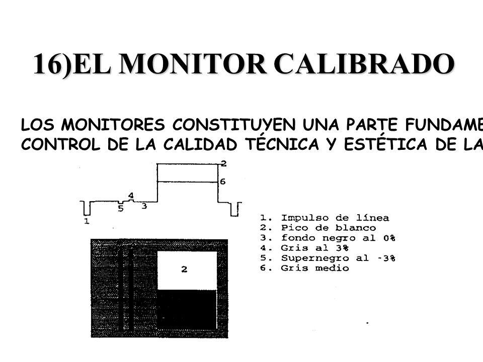 16)EL MONITOR CALIBRADOLOS MONITORES CONSTITUYEN UNA PARTE FUNDAMENTAL DEL.