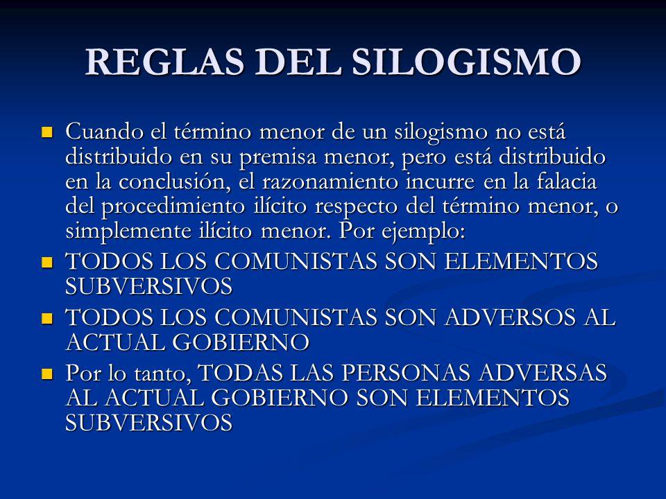 REGLAS DEL SILOGISMO