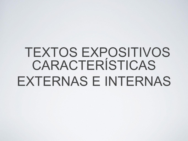 CARACTERÍSTICAS EXTERNAS E INTERNAS