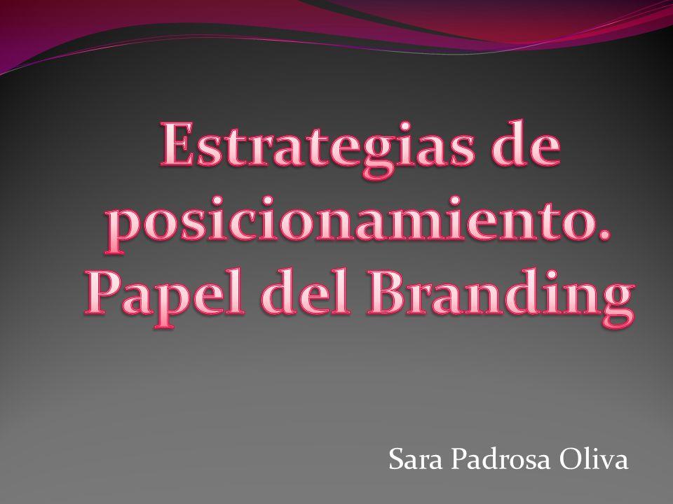 Estrategias de posicionamiento. Papel del Branding