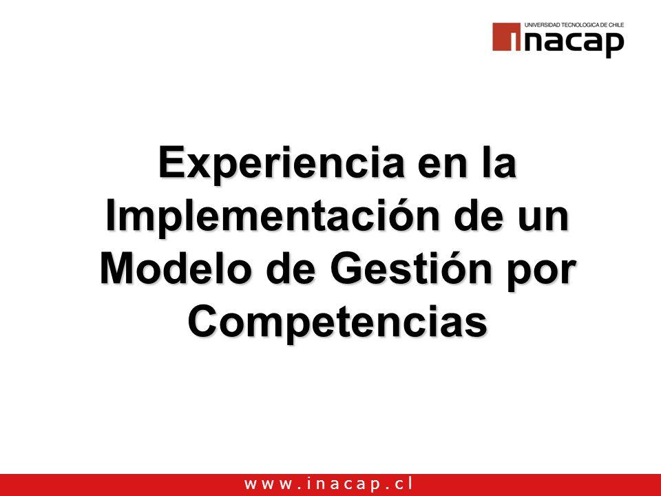 Experiencia en la Implementación de un Modelo de Gestión por Competencias