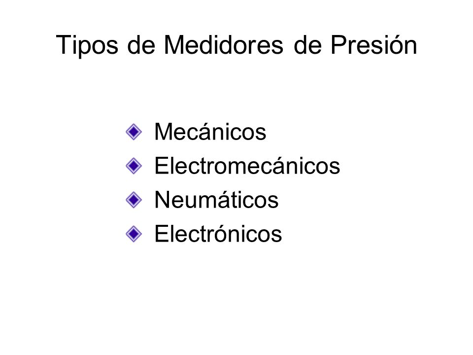 Tipos de Medidores de Presión