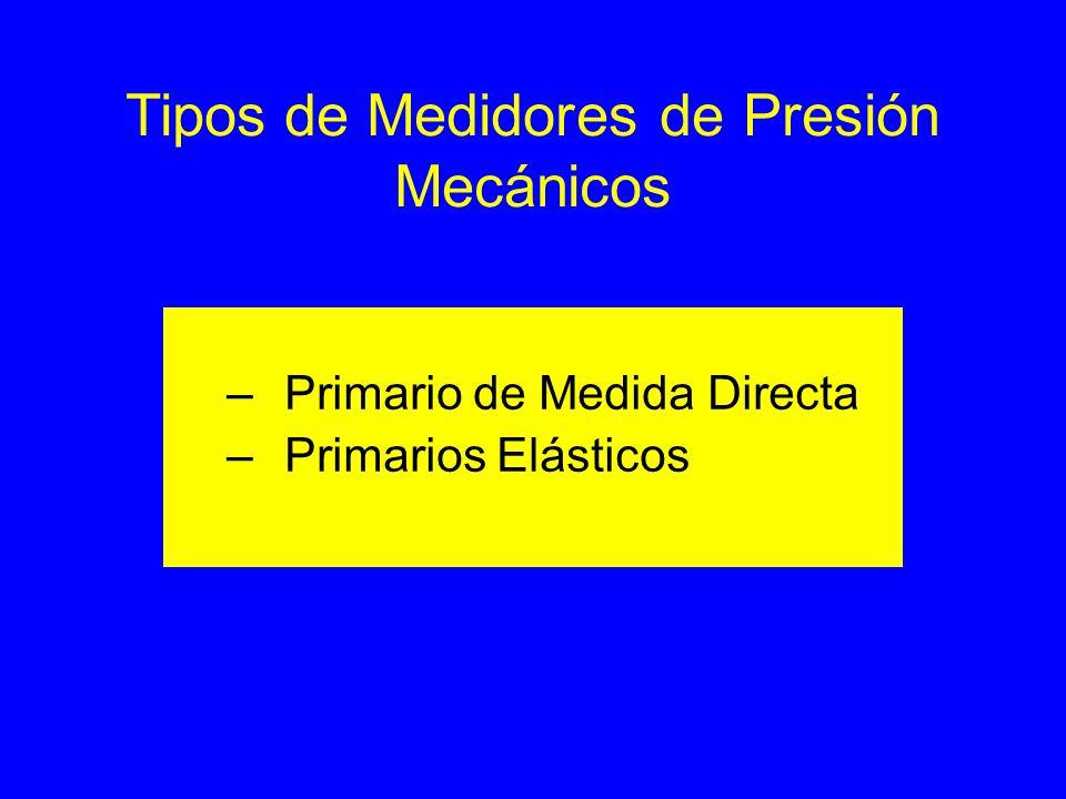 Tipos de Medidores de Presión Mecánicos