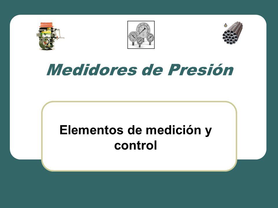 Elementos de medición y control