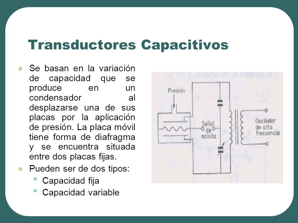 Transductores Capacitivos